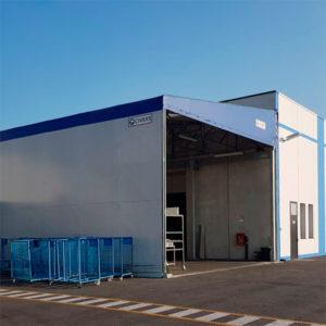 capannone industriale pvc