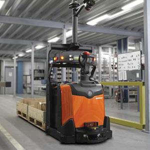 carrello agv magazzino automatico toyota