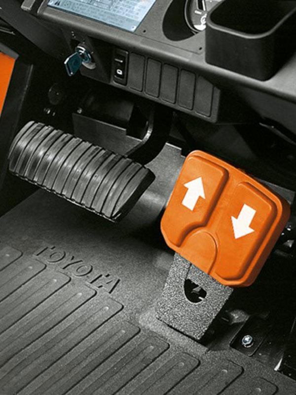 pedali carrelli elevatori controbilanciati toyota